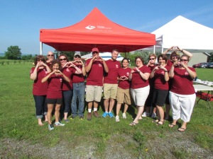 Volunteers showing the love!
